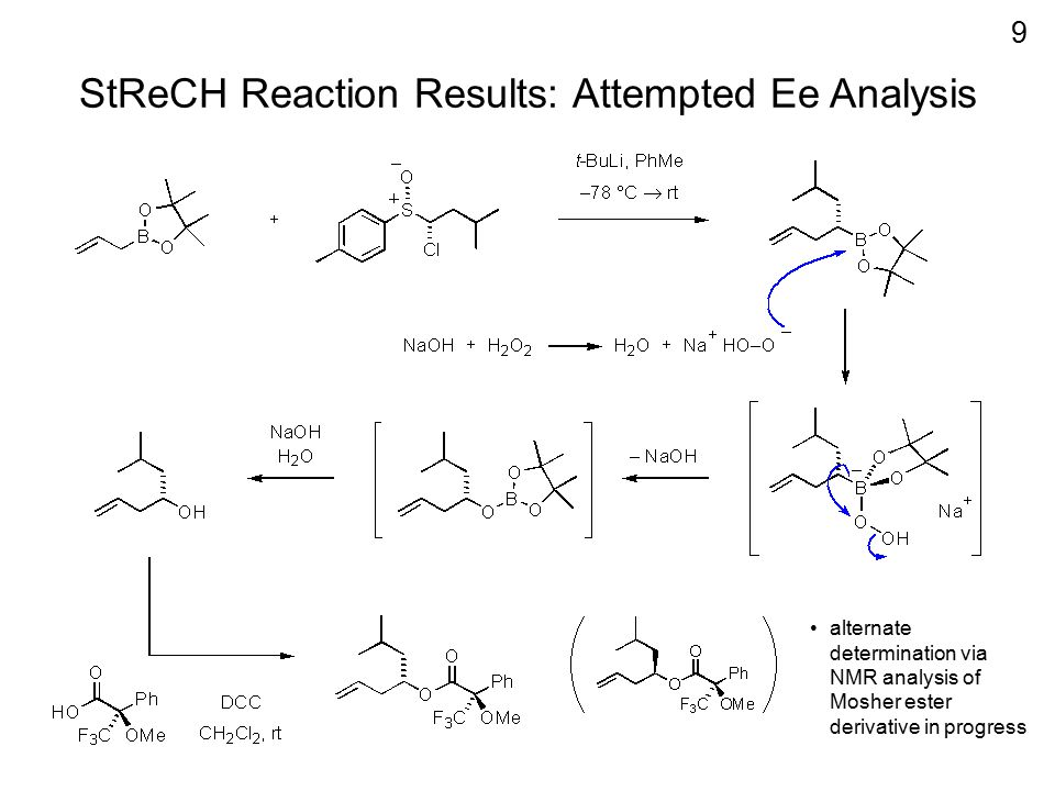 StReCH Reaction Results: Attempted Ee Analysis