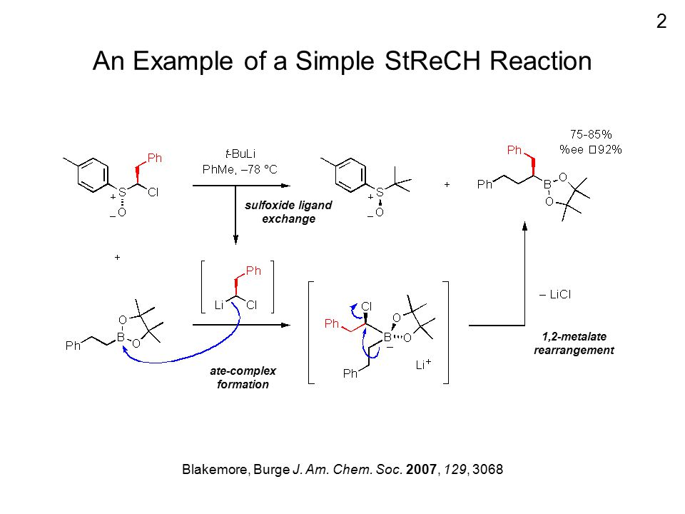 An Example of a Simple StReCH Reaction