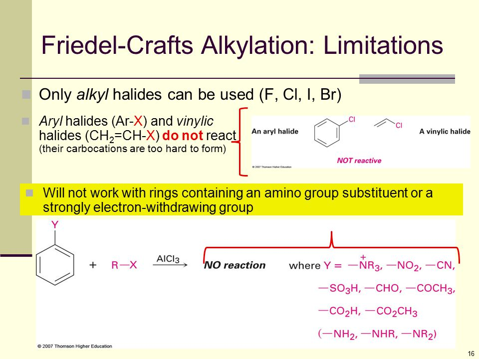 Friedel-Crafts Alkylation: Limitations
