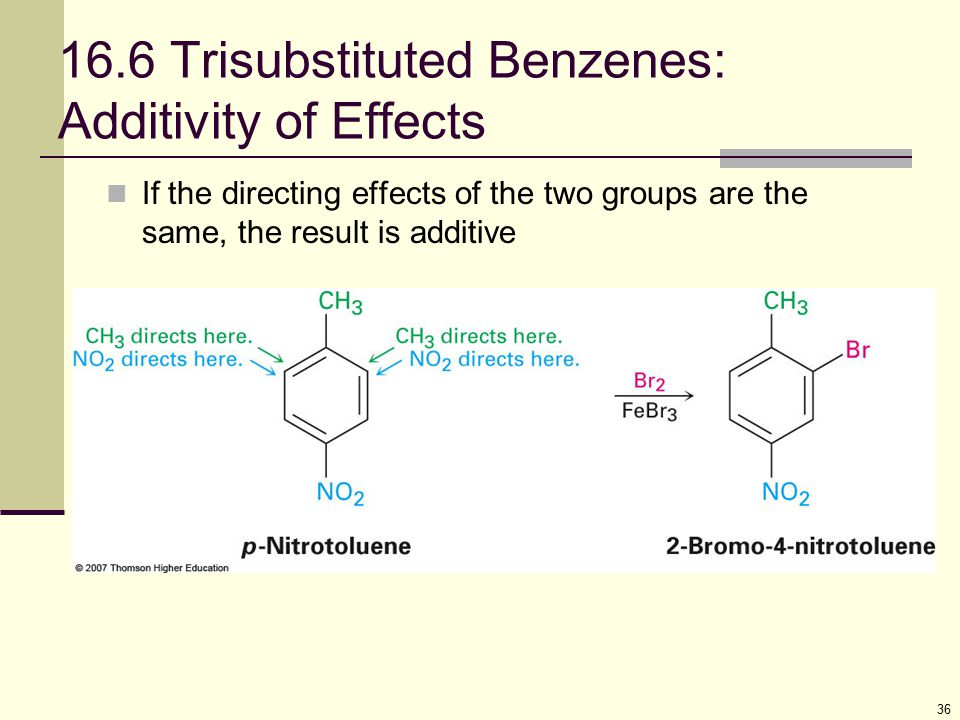 16.6 Trisubstituted Benzenes: Additivity of Effects
