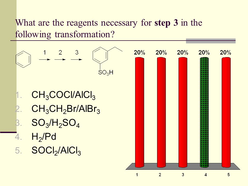What are the reagents necessary for step 3 in the following transformation