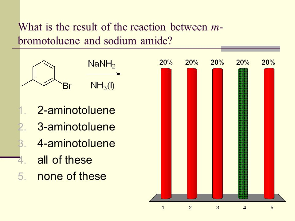 What is the result of the reaction between m-bromotoluene and sodium amide