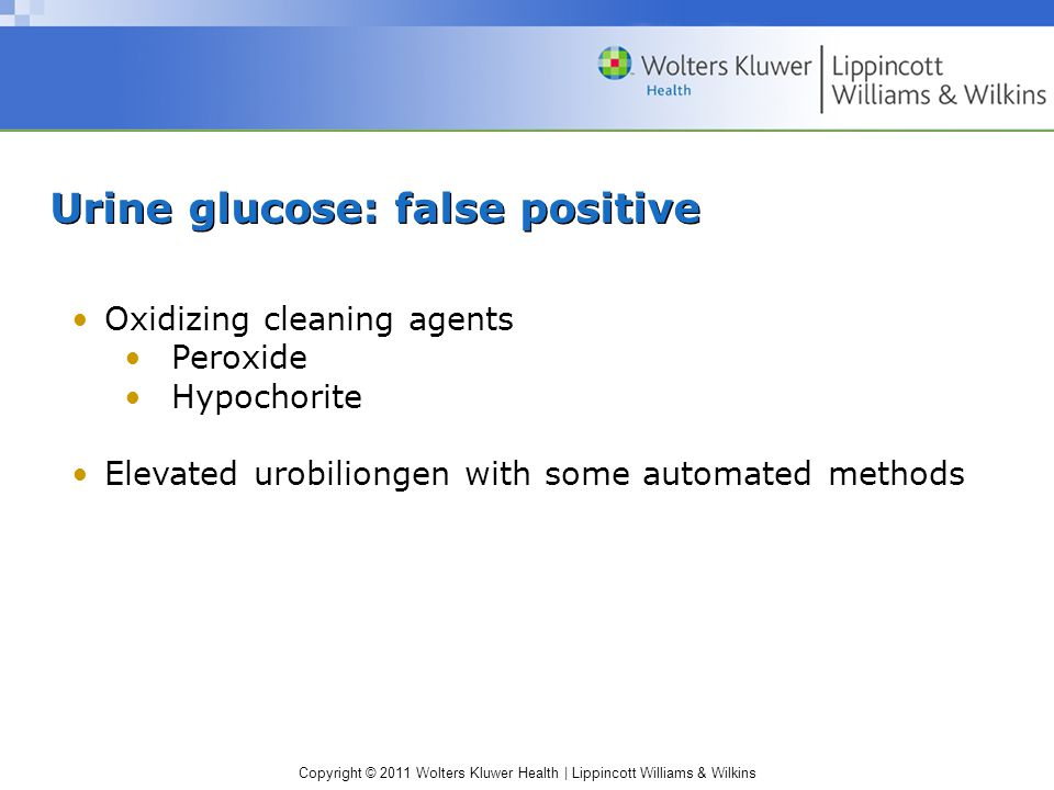 Urine glucose: false positive