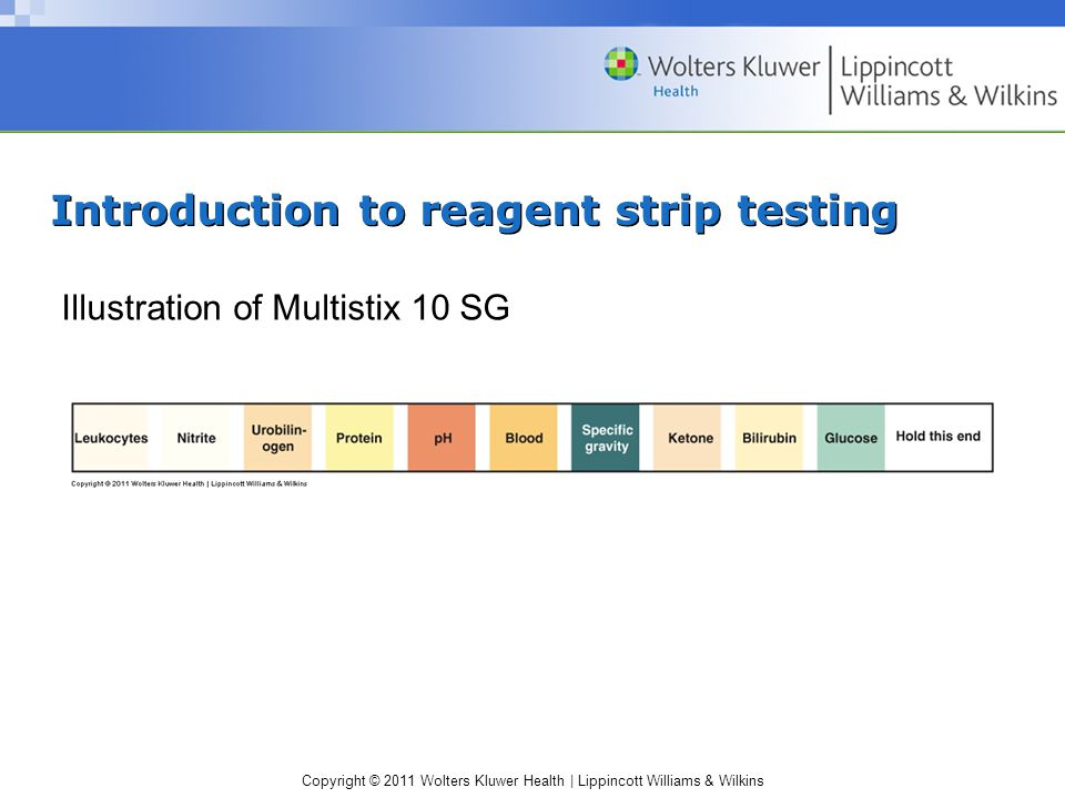 Introduction to reagent strip testing