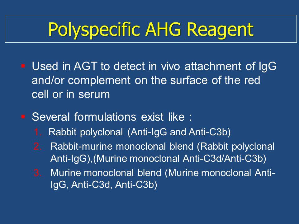 Polyspecific AHG Reagent