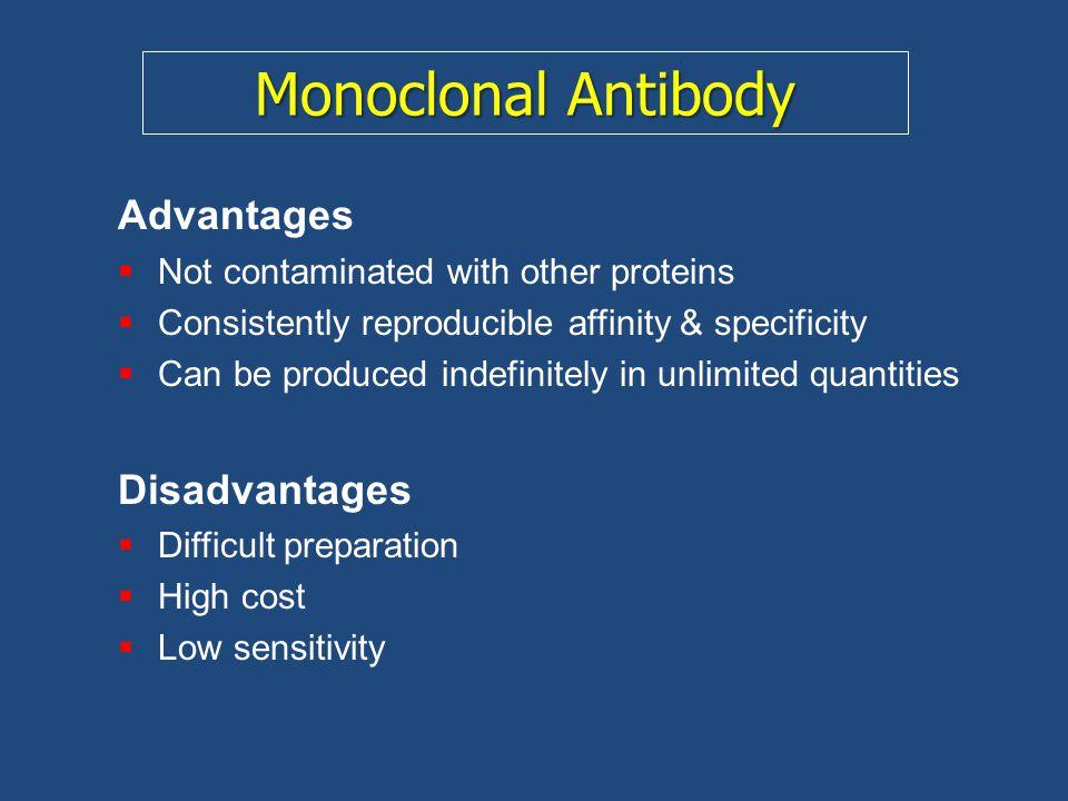 Monoclonal Antibody Advantages Disadvantages
