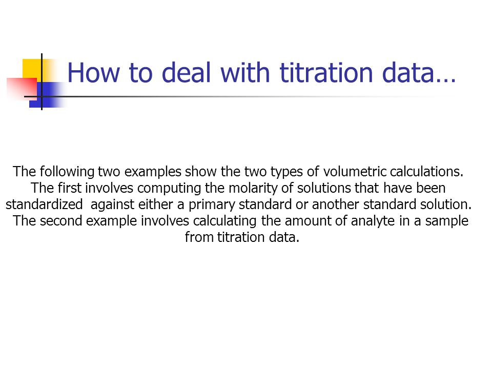 How to deal with titration data…