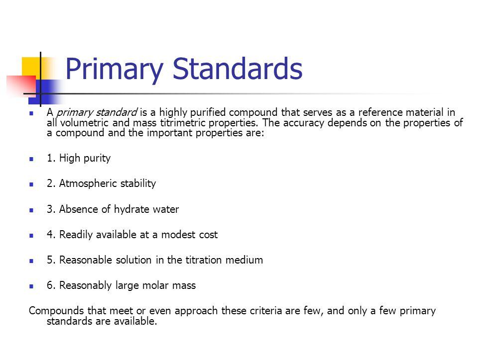 Primary Standards