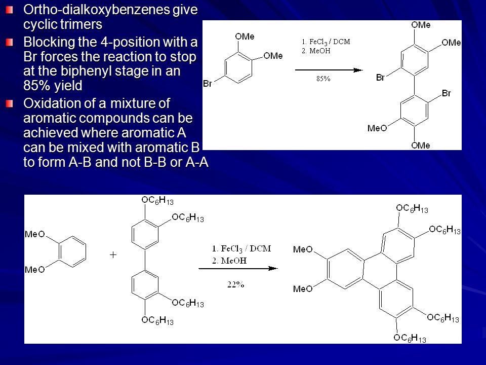 Ortho-dialkoxybenzenes give cyclic trimers