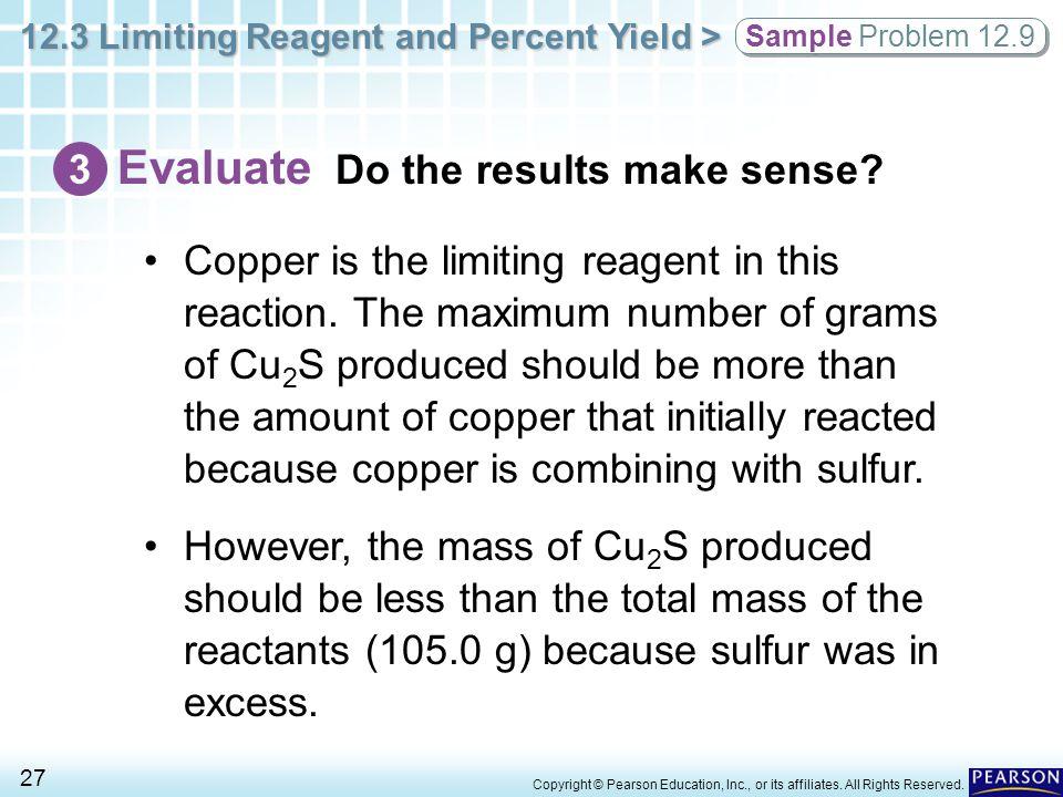 Evaluate Do the results make sense