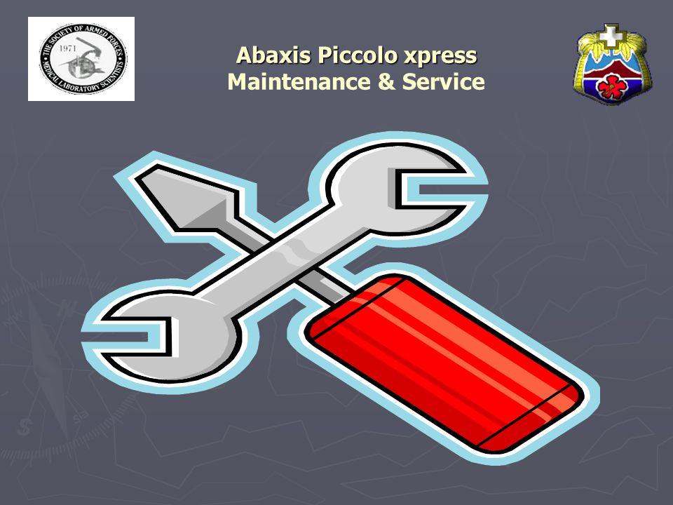 Abaxis Piccolo xpress Maintenance & Service