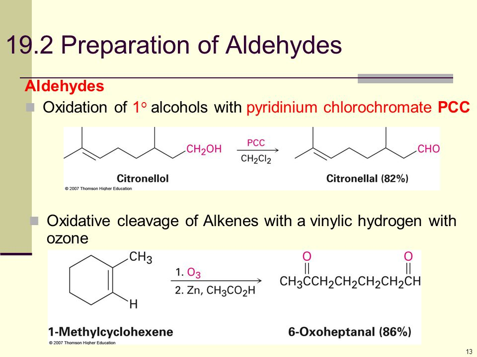 19.2 Preparation of Aldehydes