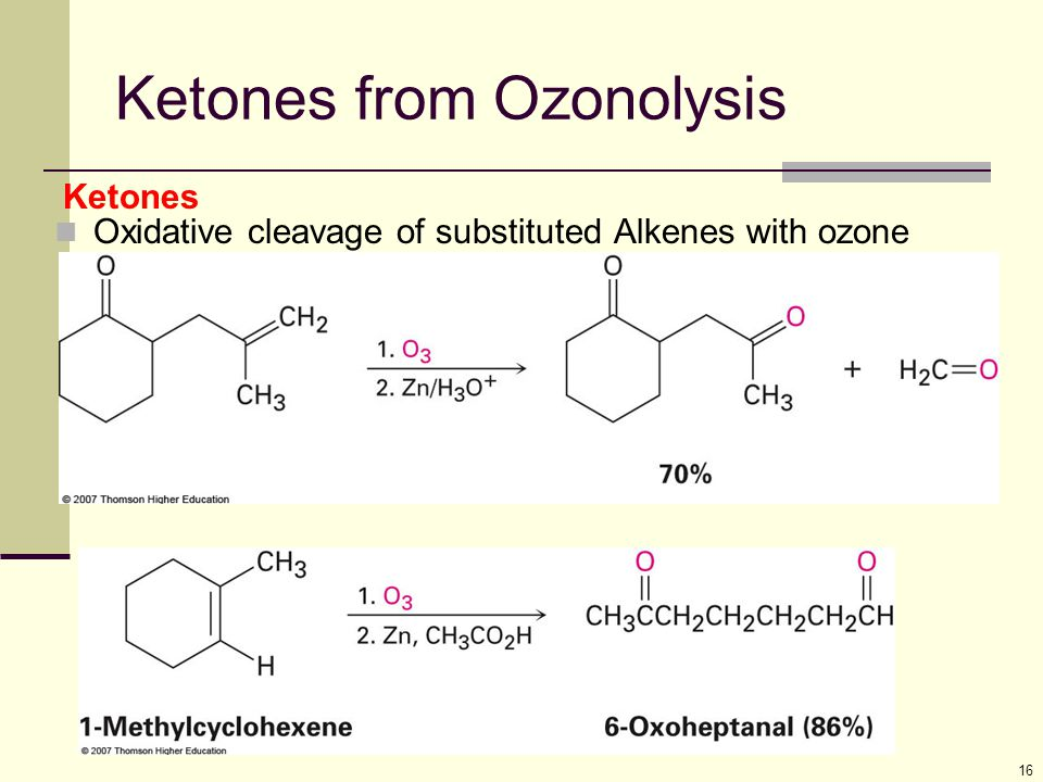 Ketones from Ozonolysis