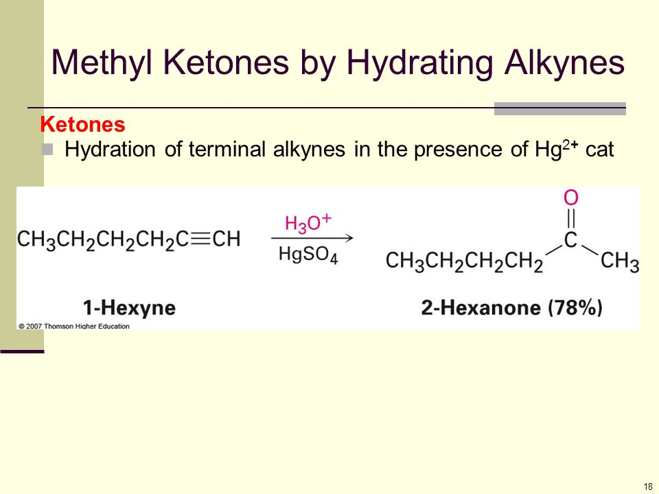 Methyl Ketones by Hydrating Alkynes