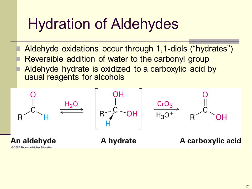 Hydration of Aldehydes