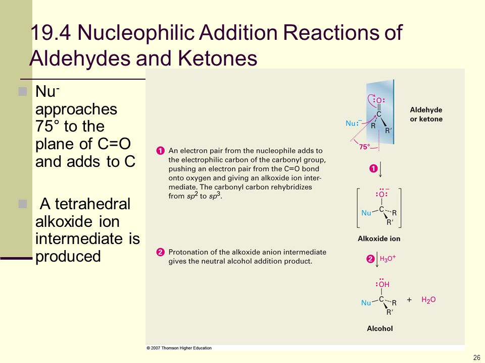 19.4 Nucleophilic Addition Reactions of Aldehydes and Ketones