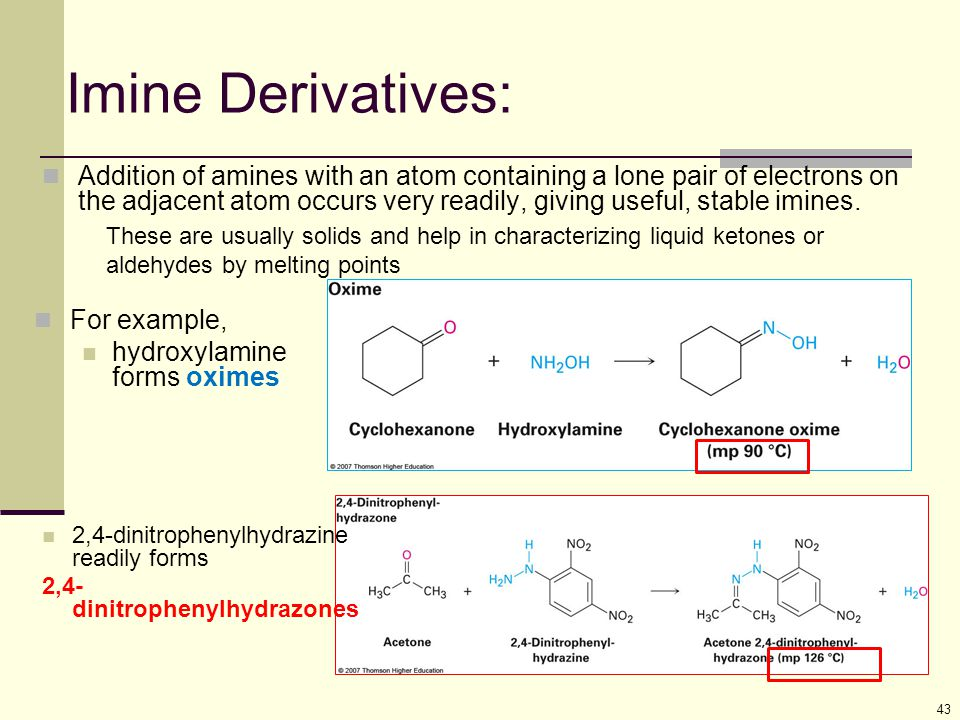 Imine Derivatives: