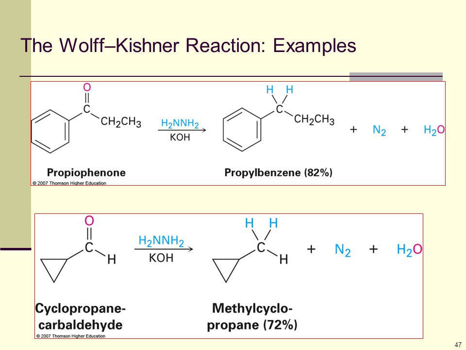 The Wolff–Kishner Reaction: Examples