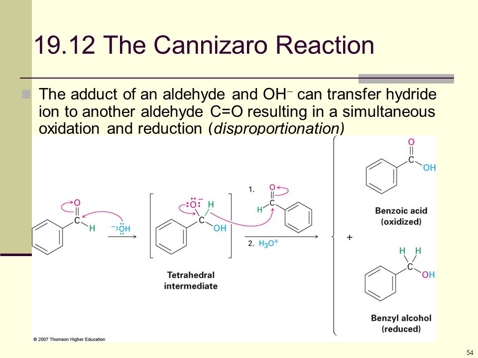 19.12 The Cannizaro Reaction