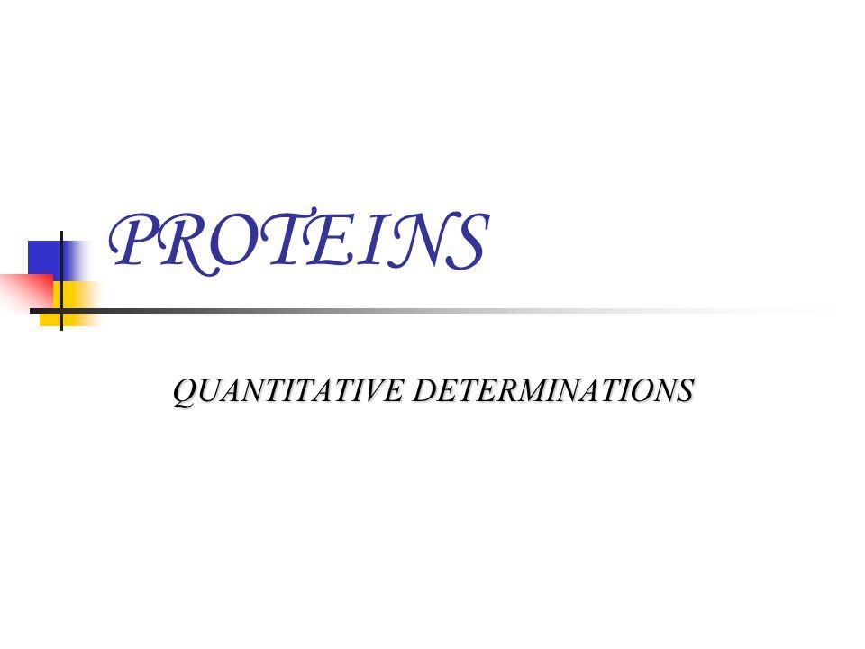 QUANTITATIVE DETERMINATIONS