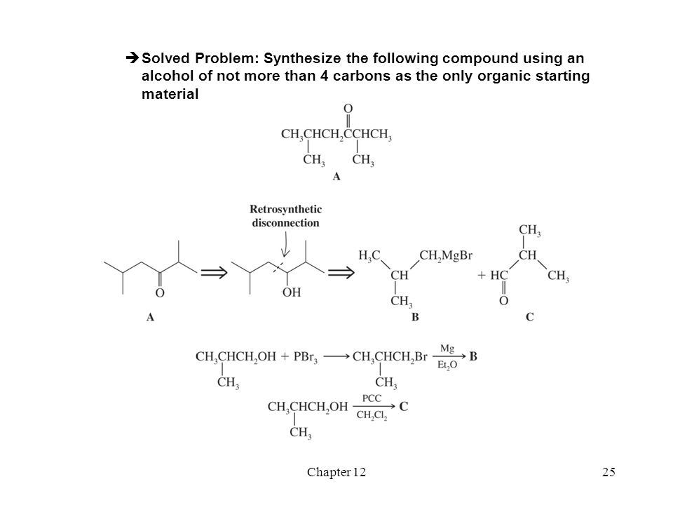 Solved Problem: Synthesize the following compound using an alcohol of not more than 4 carbons as the only organic starting material