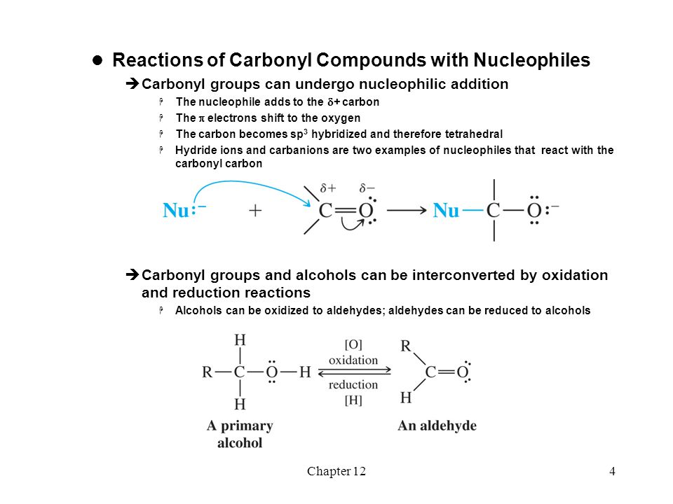 Reactions of Carbonyl Compounds with Nucleophiles