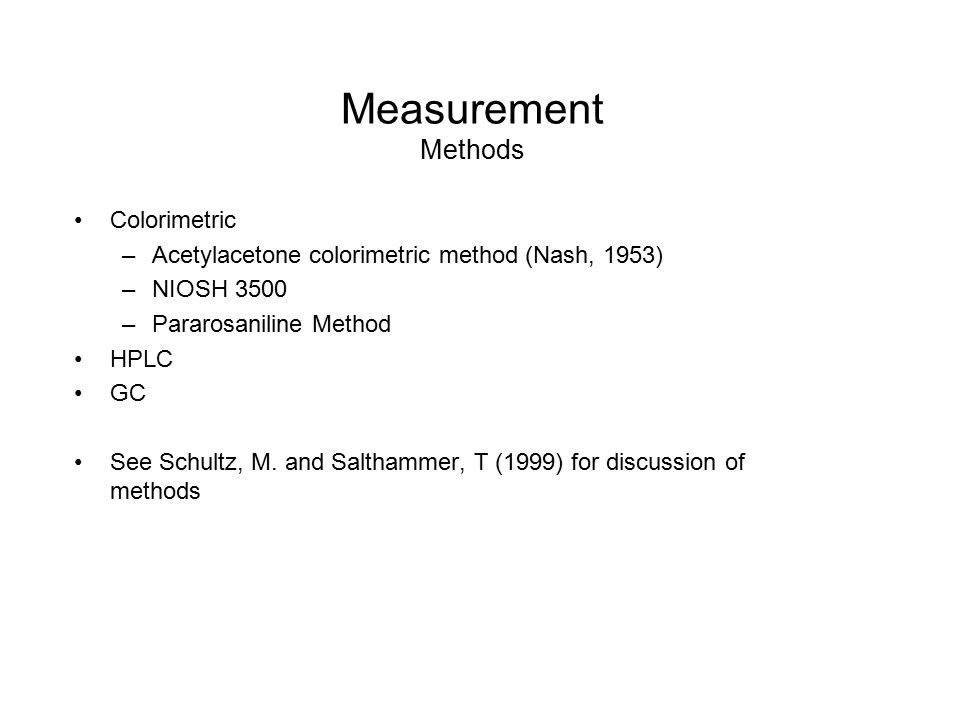 Measurement Methods Colorimetric