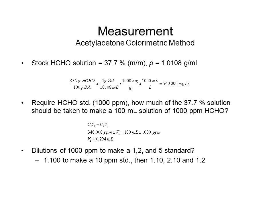 Measurement Acetylacetone Colorimetric Method