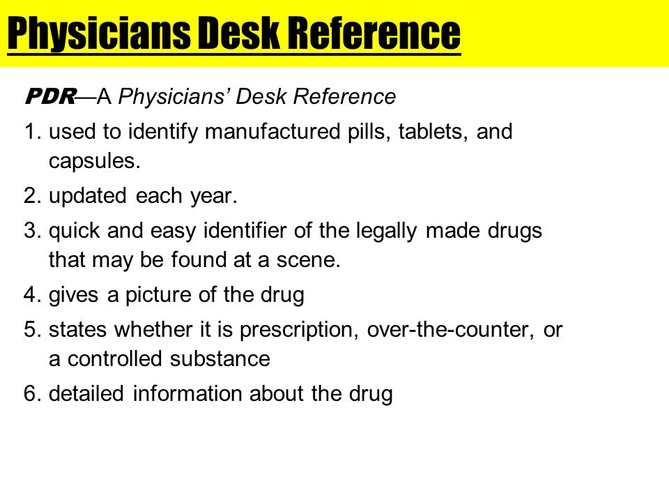 Physicians Desk Reference