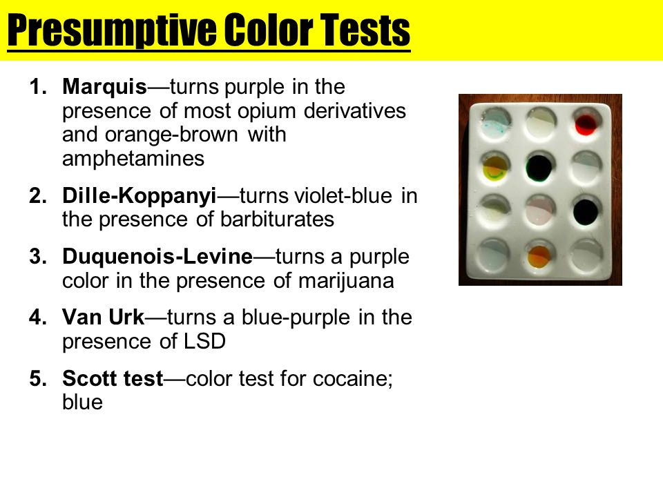 Presumptive Color Tests