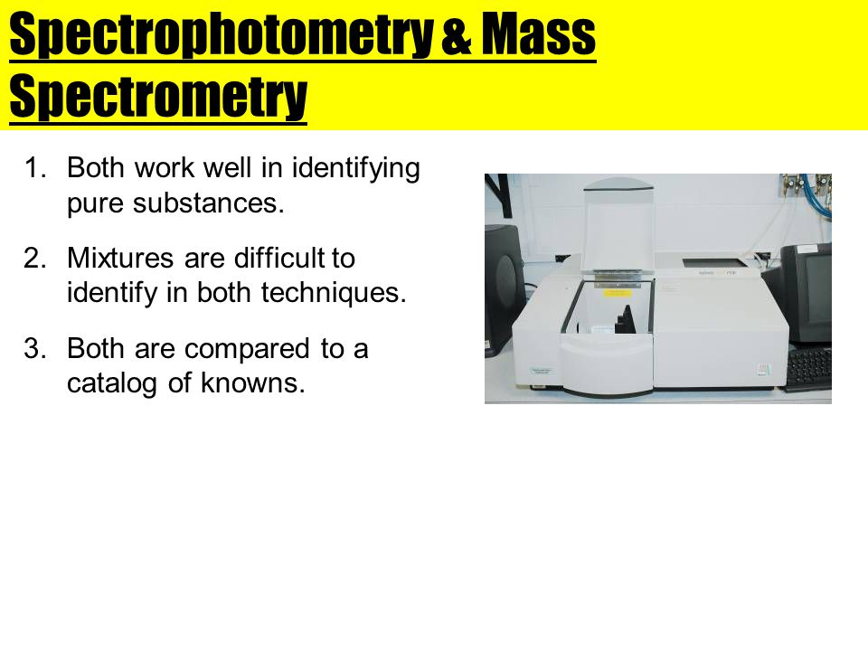Spectrophotometry & Mass Spectrometry