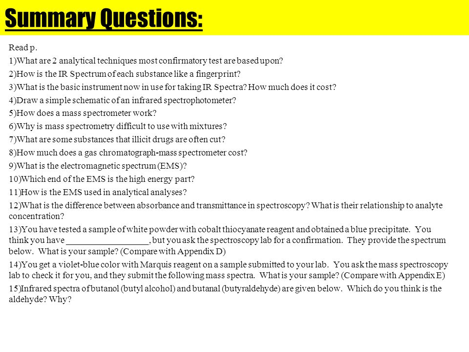 Summary Questions: Read p.