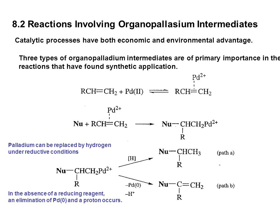 8.2 Reactions Involving Organopallasium Intermediates