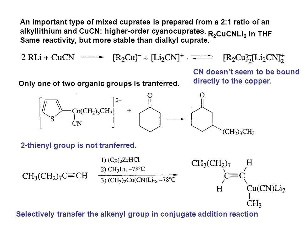 An important type of mixed cuprates is prepared from a 2:1 ratio of an