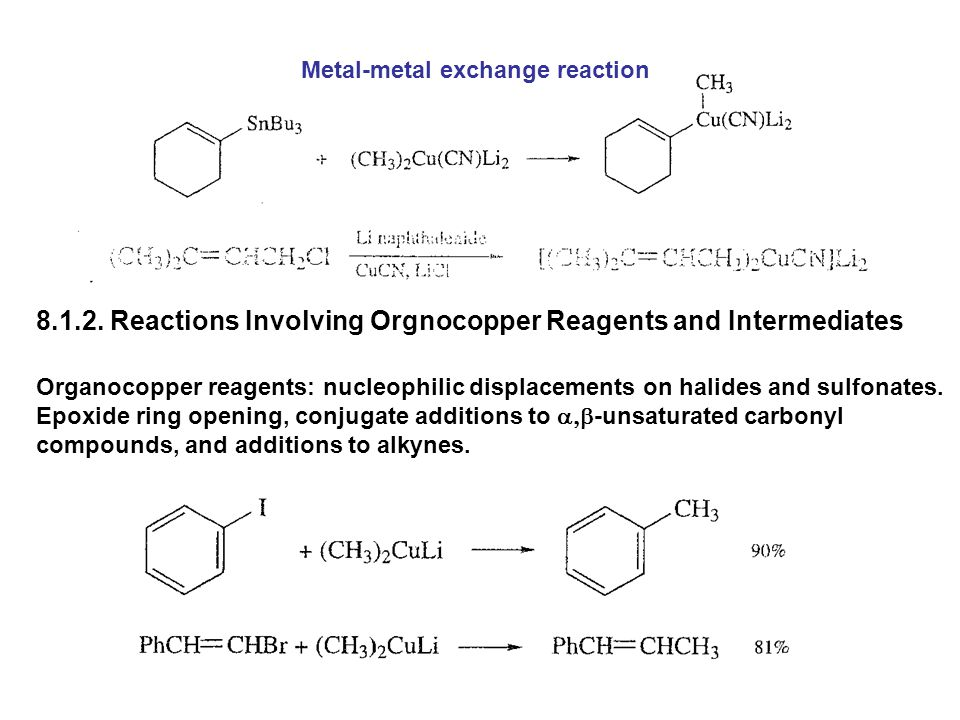 8.1.2. Reactions Involving Orgnocopper Reagents and Intermediates