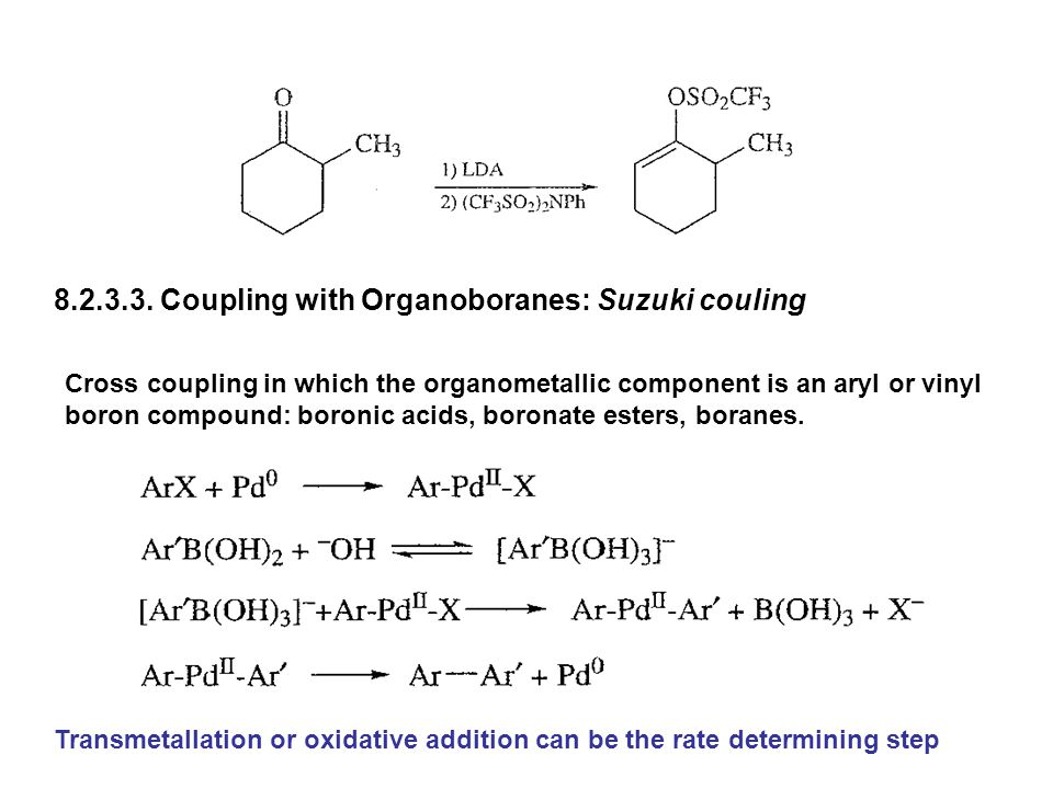 8.2.3.3. Coupling with Organoboranes: Suzuki couling