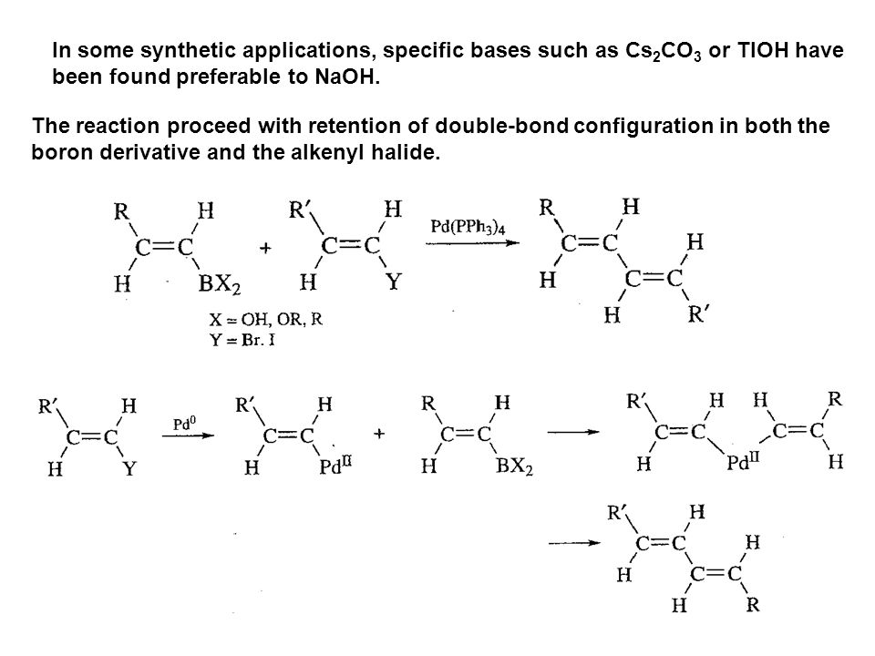In some synthetic applications, specific bases such as Cs2CO3 or TlOH have