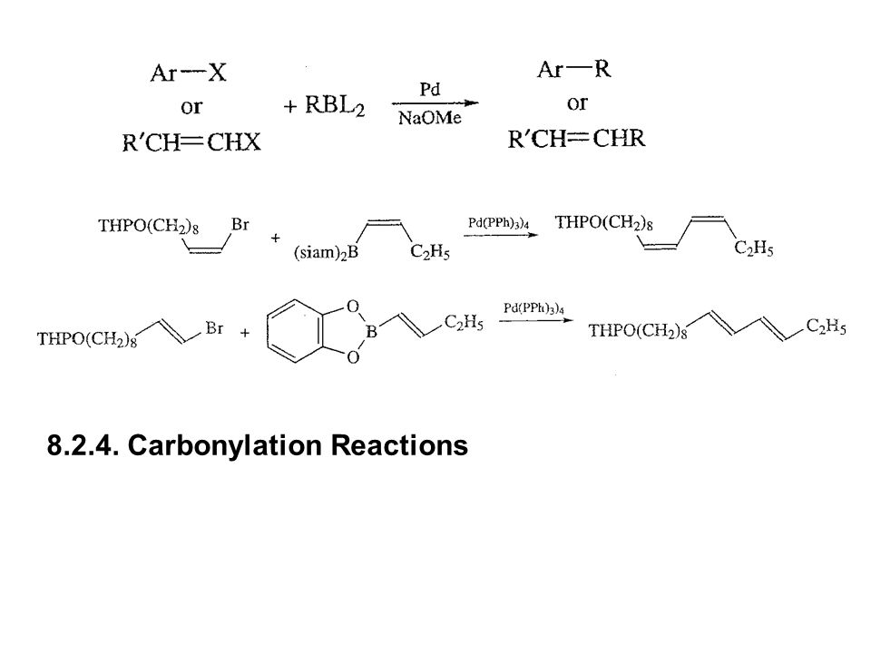 8.2.4. Carbonylation Reactions