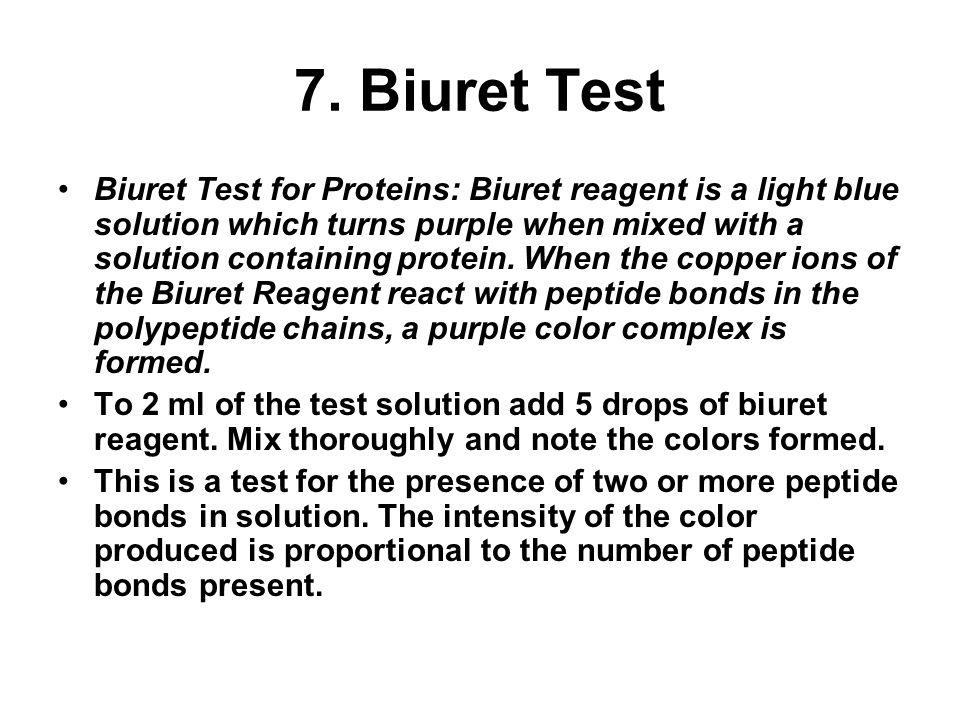 7. Biuret Test