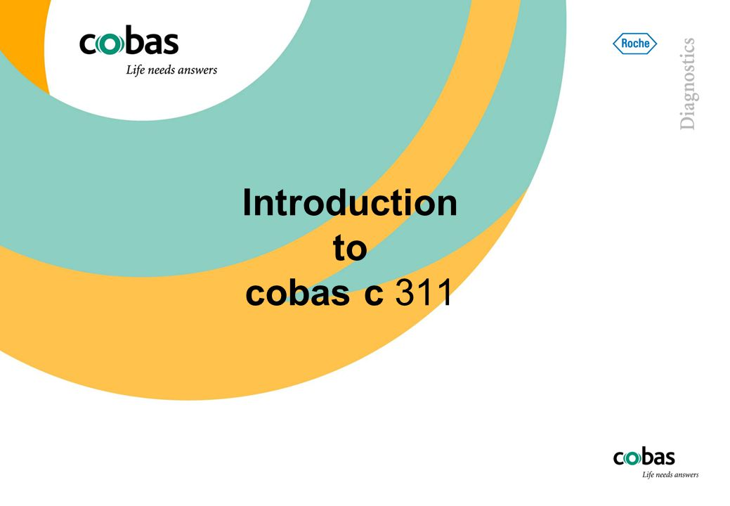 Introduction to cobas c 311