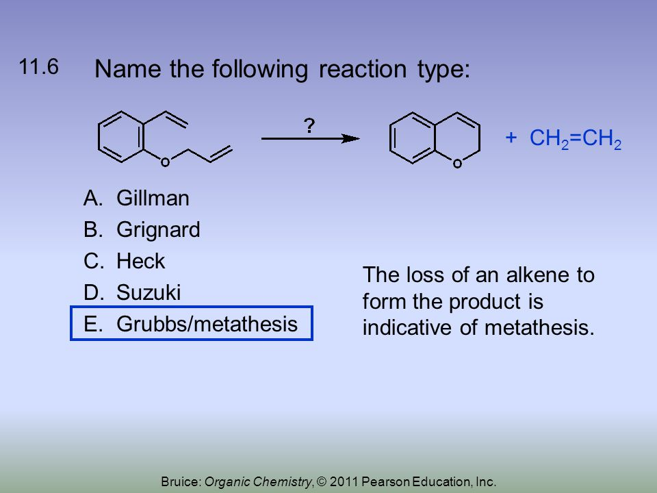 Name the following reaction type: