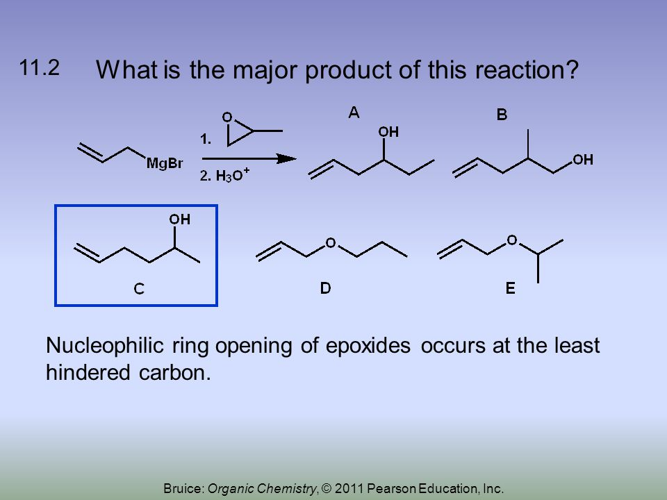 What is the major product of this reaction