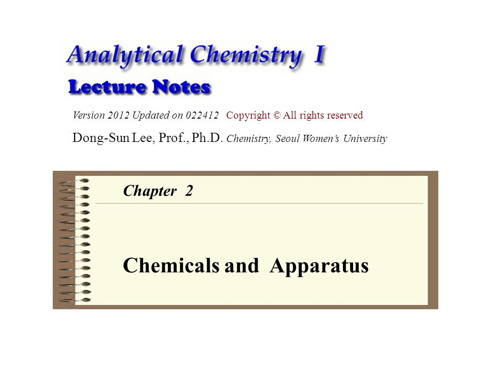 Chemicals and Apparatus