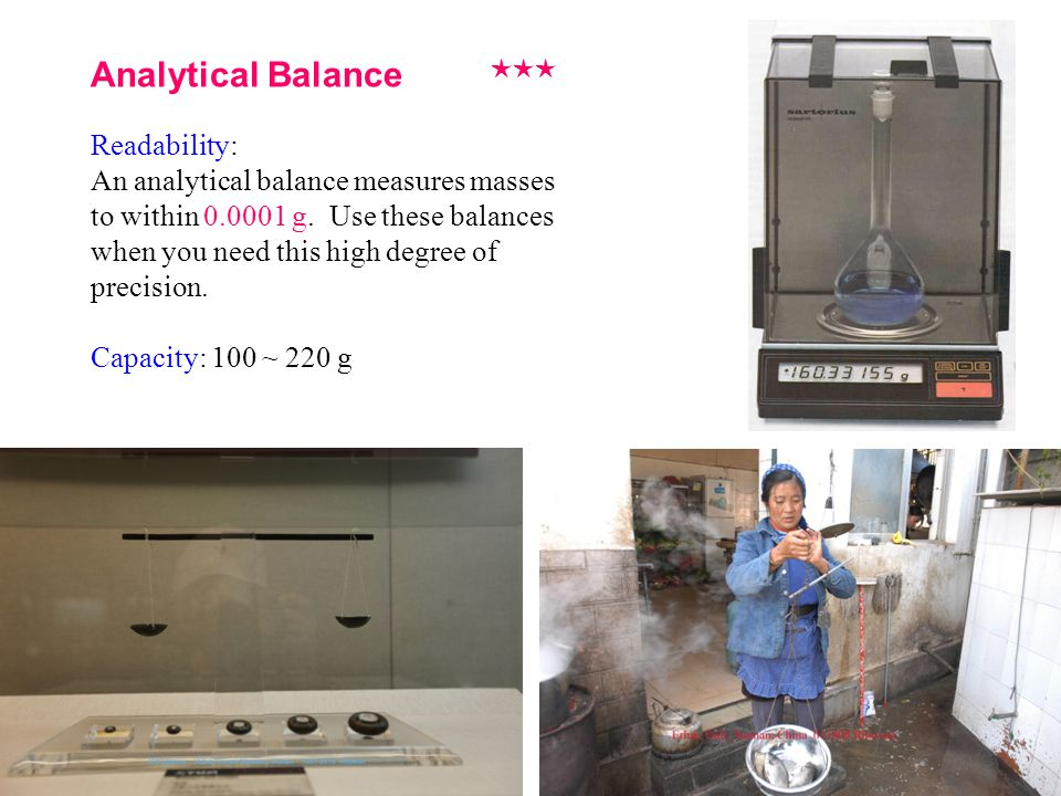 Analytical Balance Readability: