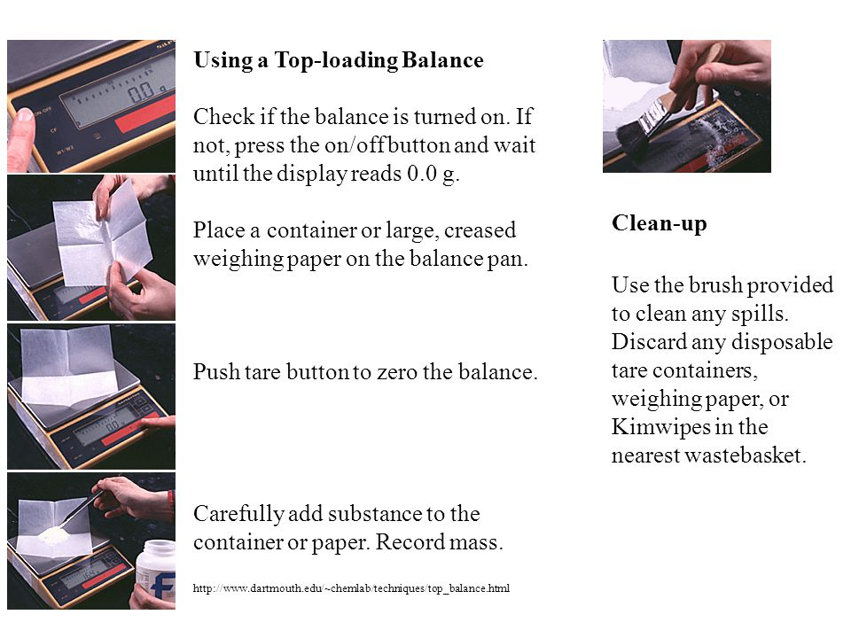 Using a Top-loading Balance