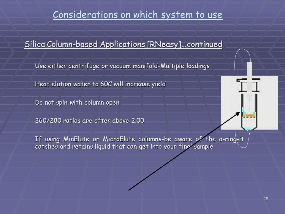 Considerations on which system to use