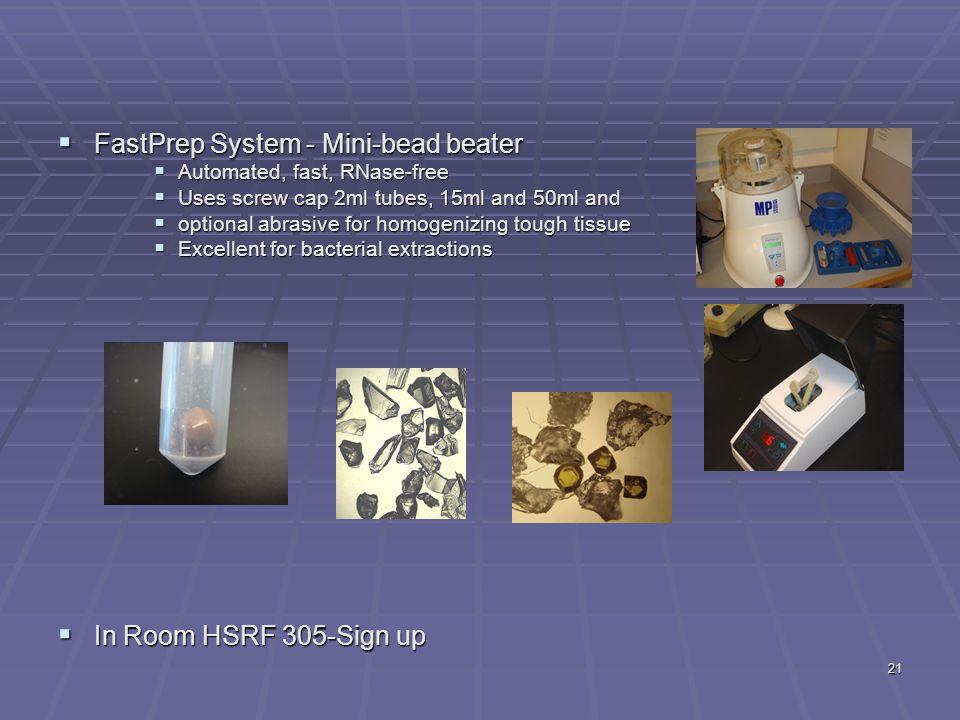 FastPrep System - Mini-bead beater