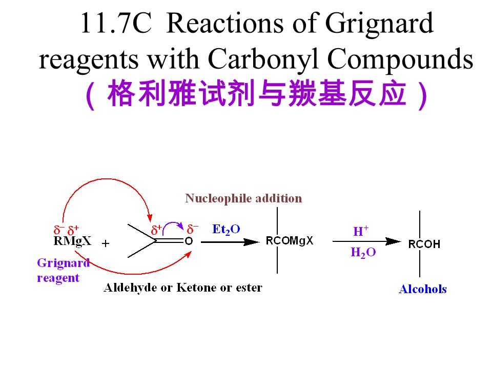 11.7C Reactions of Grignard reagents with Carbonyl Compounds(格利雅试剂与羰基反应)