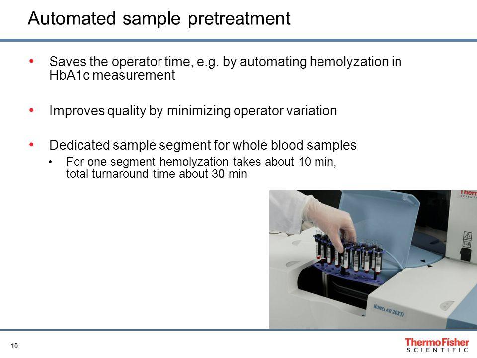 Automated sample pretreatment
