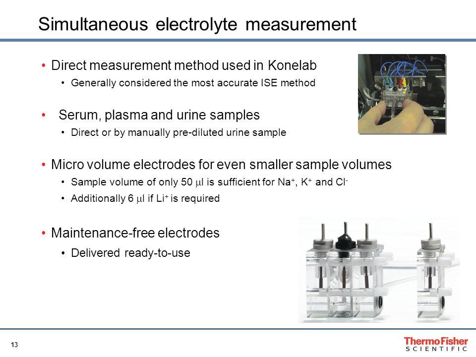 Simultaneous electrolyte measurement